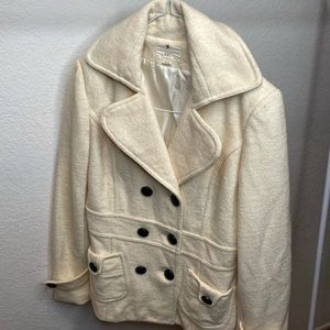 Cream colored pea coat